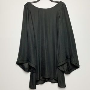 SMYM | Black Mini Dress Bell sleeves size small